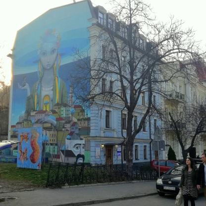 murale na ulicy Andrejevski Uzviz
